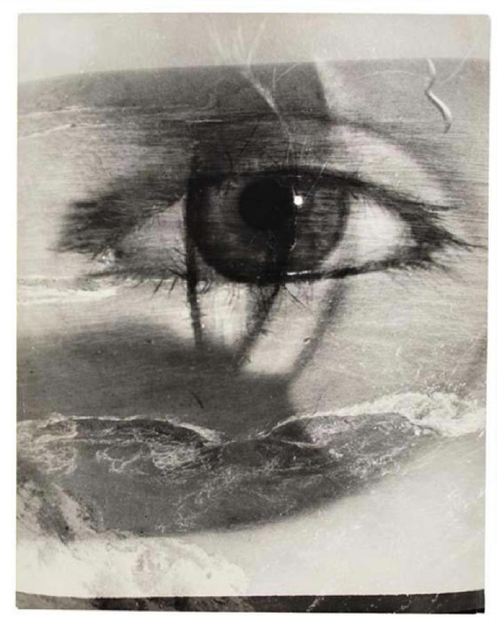 lamelancoly :     Maurice Tabard- Eye & beach, photomontage , 1949.jpg