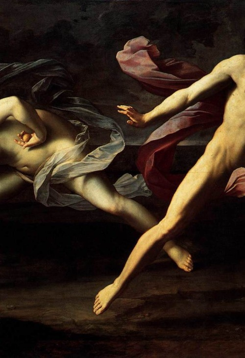wineofwizardry :     Detail of Atalanta and Hippomenesby Guido Reni