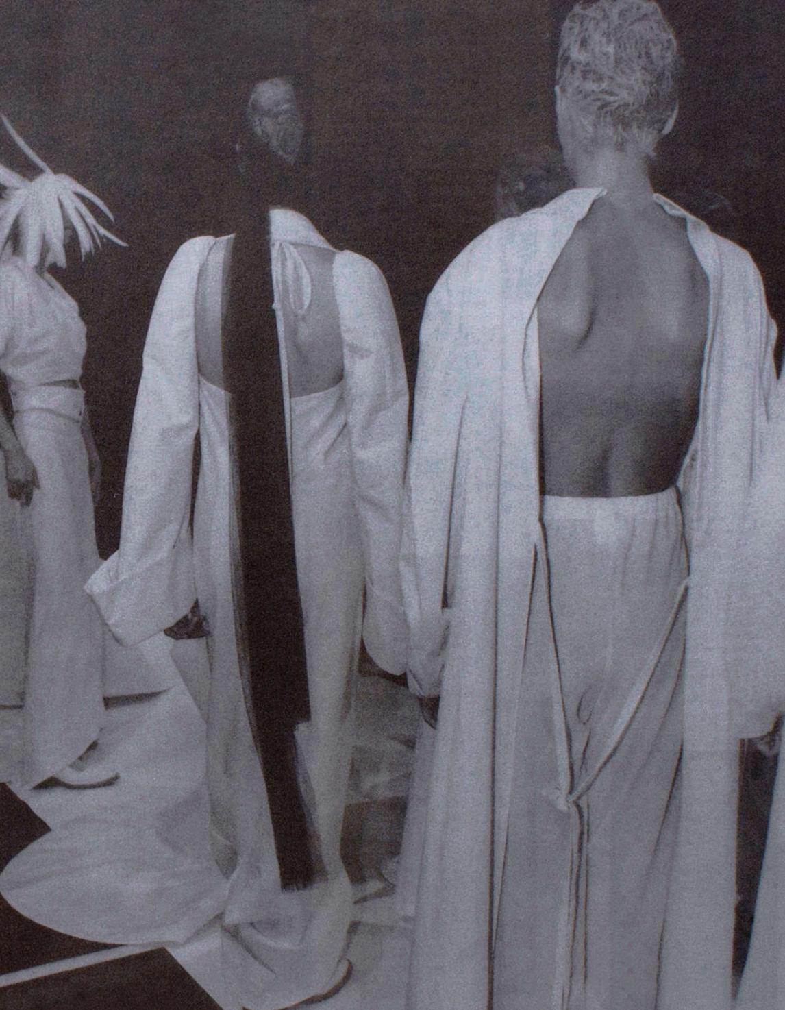 petrole :     backstage at comme des garçons spring summer 1994