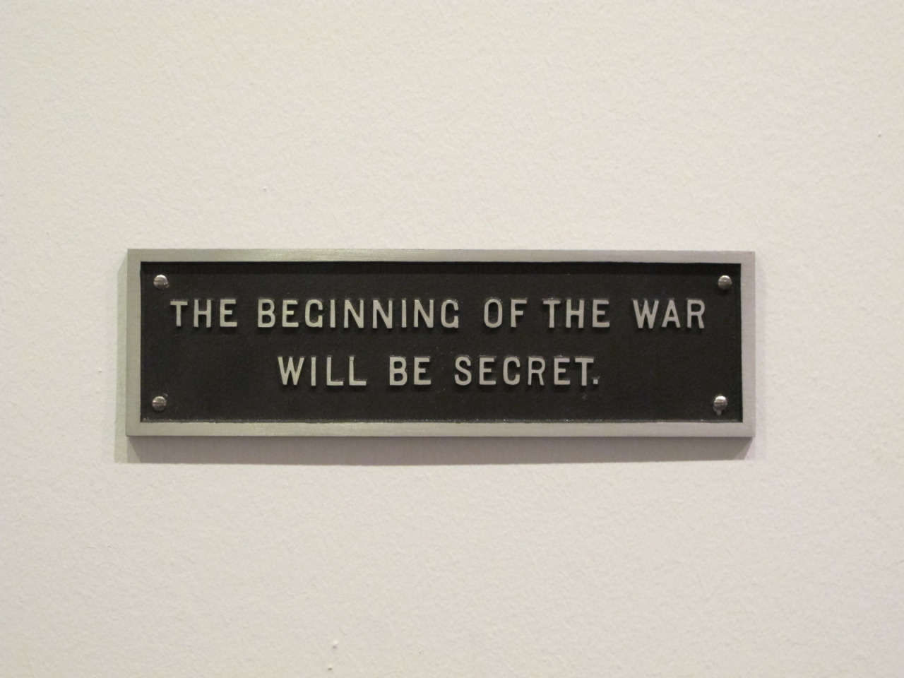 polmaic :      The Beginning of the War will be Secret , Jenny Holzer, 1983-1985