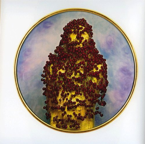 deadsunflower :      Luigi Ontani ,  CiliegiaElegia , 1998. Watercolored photograph, 50 x 50 x 1.5 in.