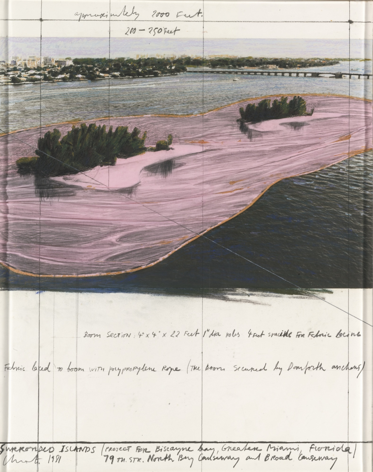 cinoh :      Christo  -  Surrounded Islands, Project for Biscayne Bay, Florida,  1981