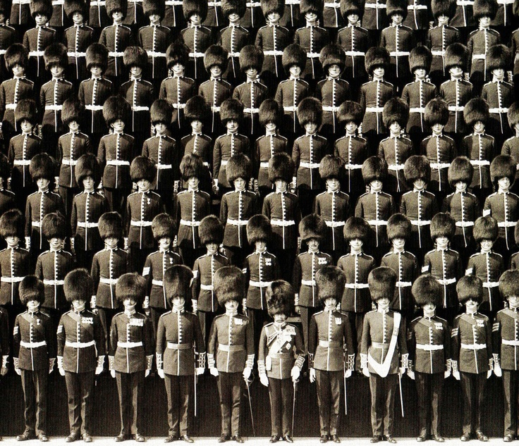 theimperialcourt :     King George V with a Company of the Grenadier Guards, 1926