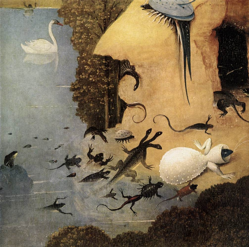 dahlium :     Hieronymus Bosch;  Triptych of Garden of Earthly Delights (detail)