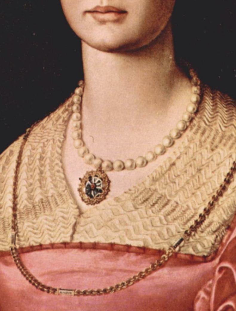 "tierradentro :     "" Portrait of Lucrezia Panciatichi "" (detail), c.1540,  Agnolo Bronzino ."