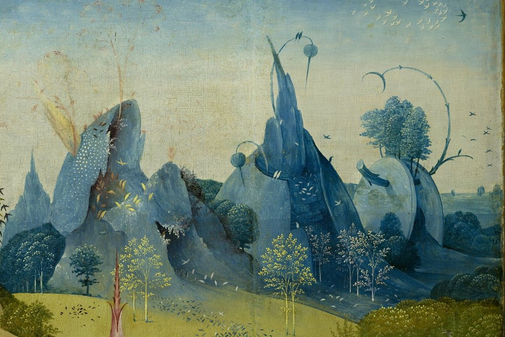 snowce :     Hieronymus Bosch,  The Garden of Earthly Delights (left panel, detail),  c.1490-1510