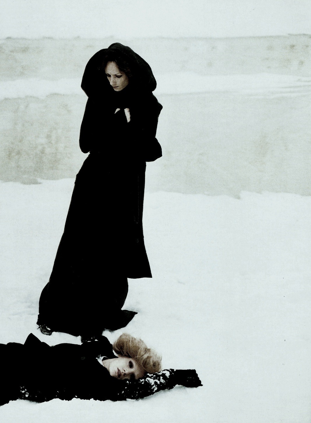 "pradaphne :     ""A Winter in Saint Petersburg"", photographed by  Deborah Turbeville  for Vogue Italia July 2006."