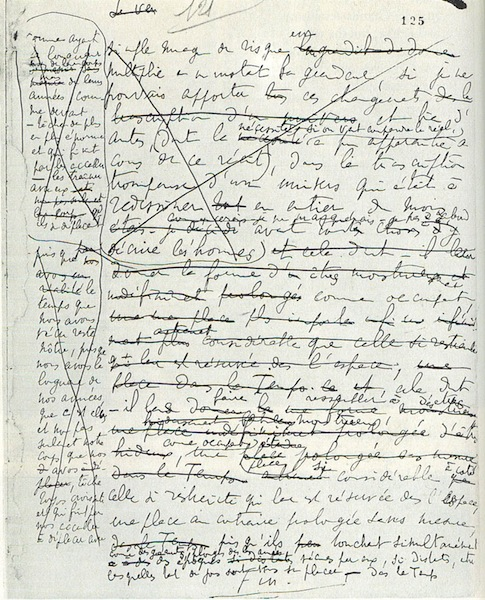 proustitute :     Marcel Proust's manuscript of the last page of   A la recherche du temps perdu     #Proust2013