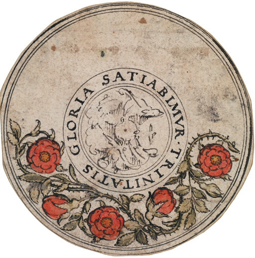 Hans Holbein the Younger (1497/8–1543)  Designs for Medallions with the Trinity, the Annunciation and other subjects (dated 1530s)