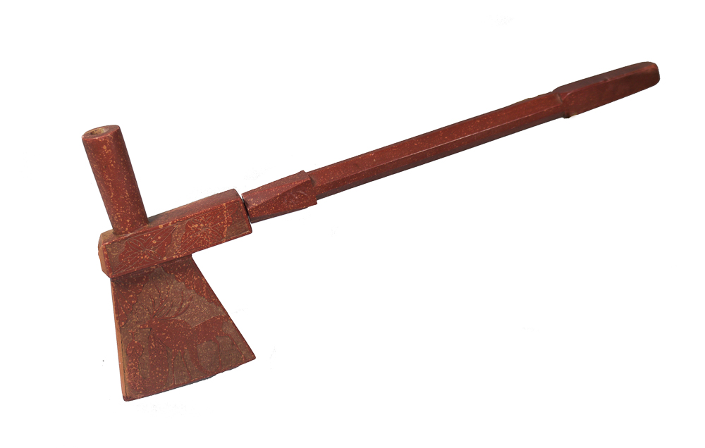 Plains Catlinite Tomahawk Pipe c.1880-1890s BV0281