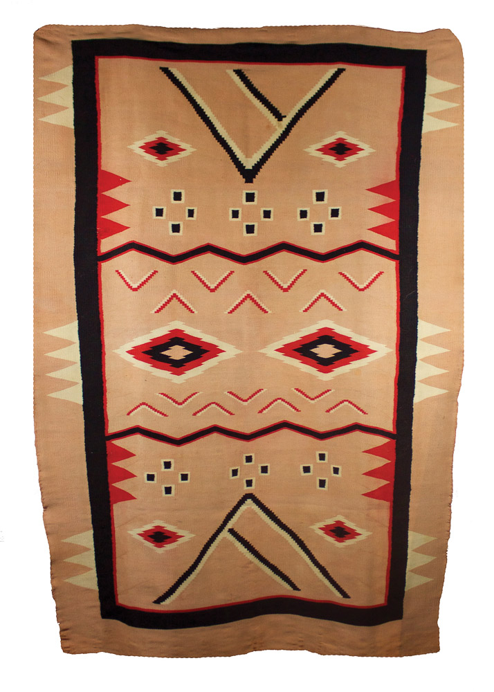 "Navajo Germantown Man's Serape   c.1880  75"" x 47"" // BV0128"