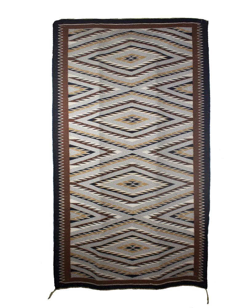 "Navajo Crystal Weaving c.1970 66"" x 38"" // CVA0005"
