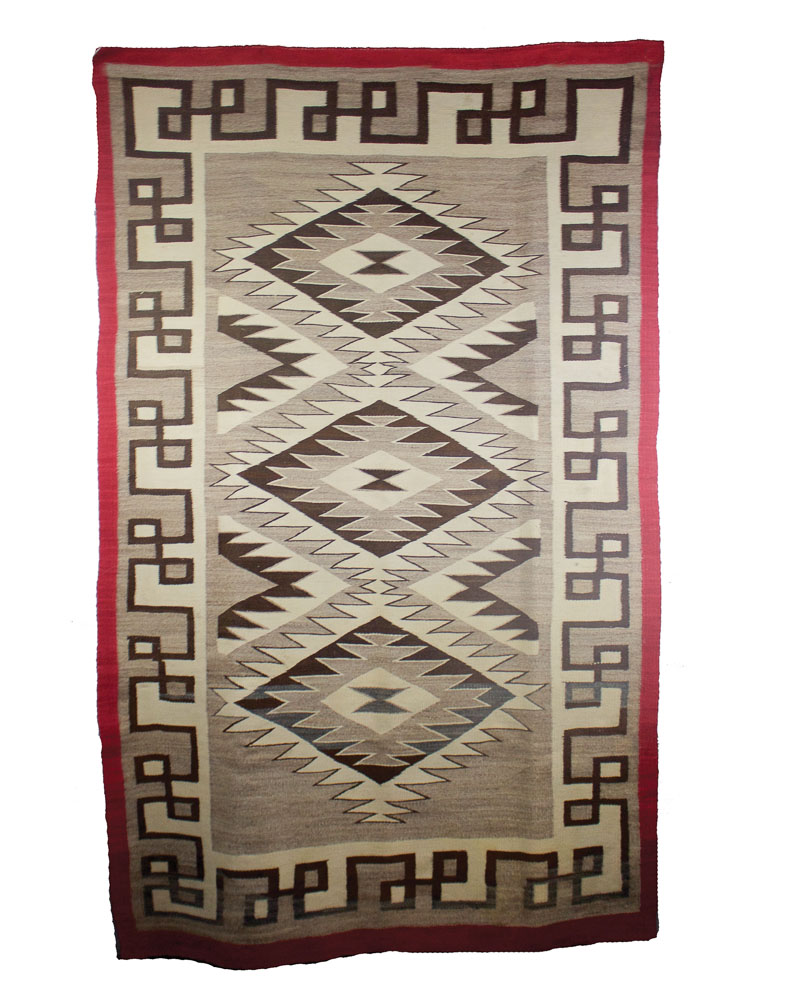 "Navajo Crystal Weaving   c.1920  76"" x 43"" // BV0134"