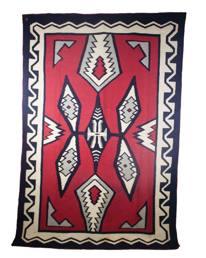 """Navajo J.B. Moore/Crystal Weaving   c.9120  83"""" x 57"""" // CKM0001"""