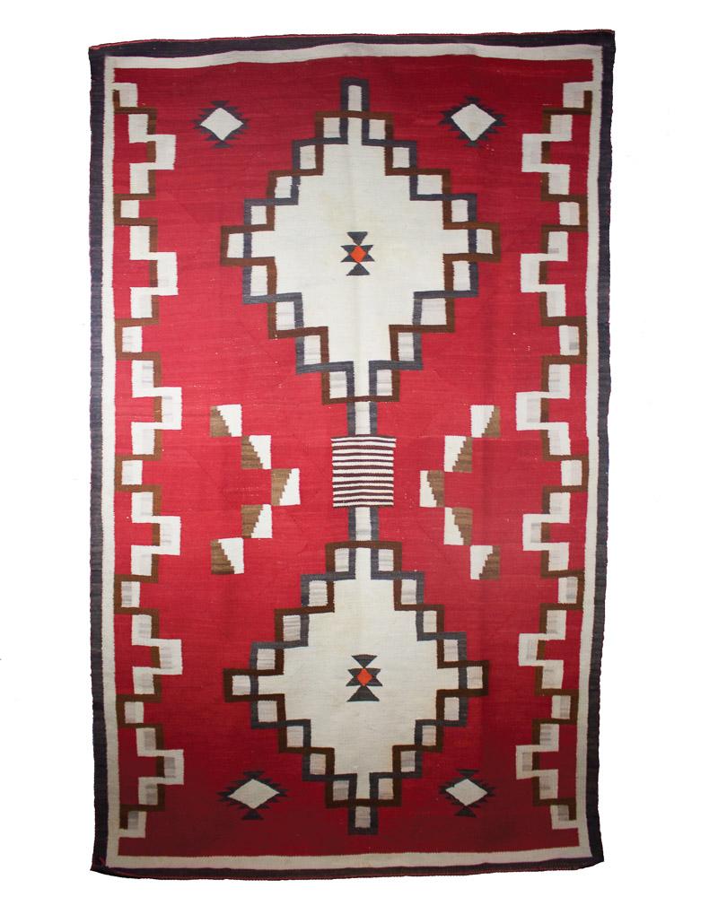 "Navajo Ganado Weaving c.1930 83"" x 50"" // DV0091"
