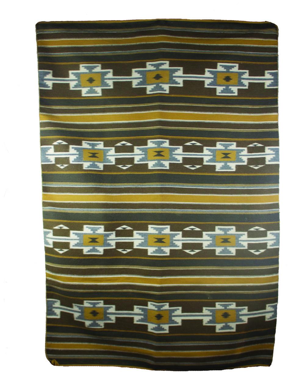 "Navajo Crystal Weaving c.1970 61"" x 38"" // CVA0007"