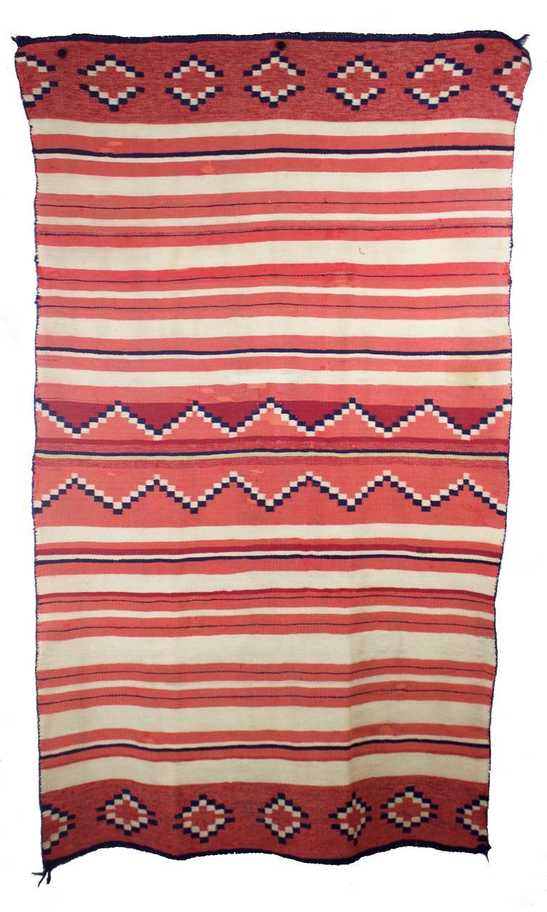 """Navajo Childs Blanket c.1870s 50"""" x 30"""" // BV639"""