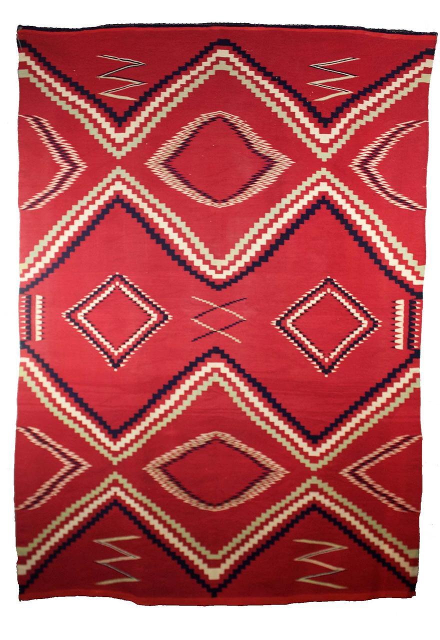 """Navajo Man's Classic Serape   c.1860s  72.5"""" x 50"""" // CGL0015"""