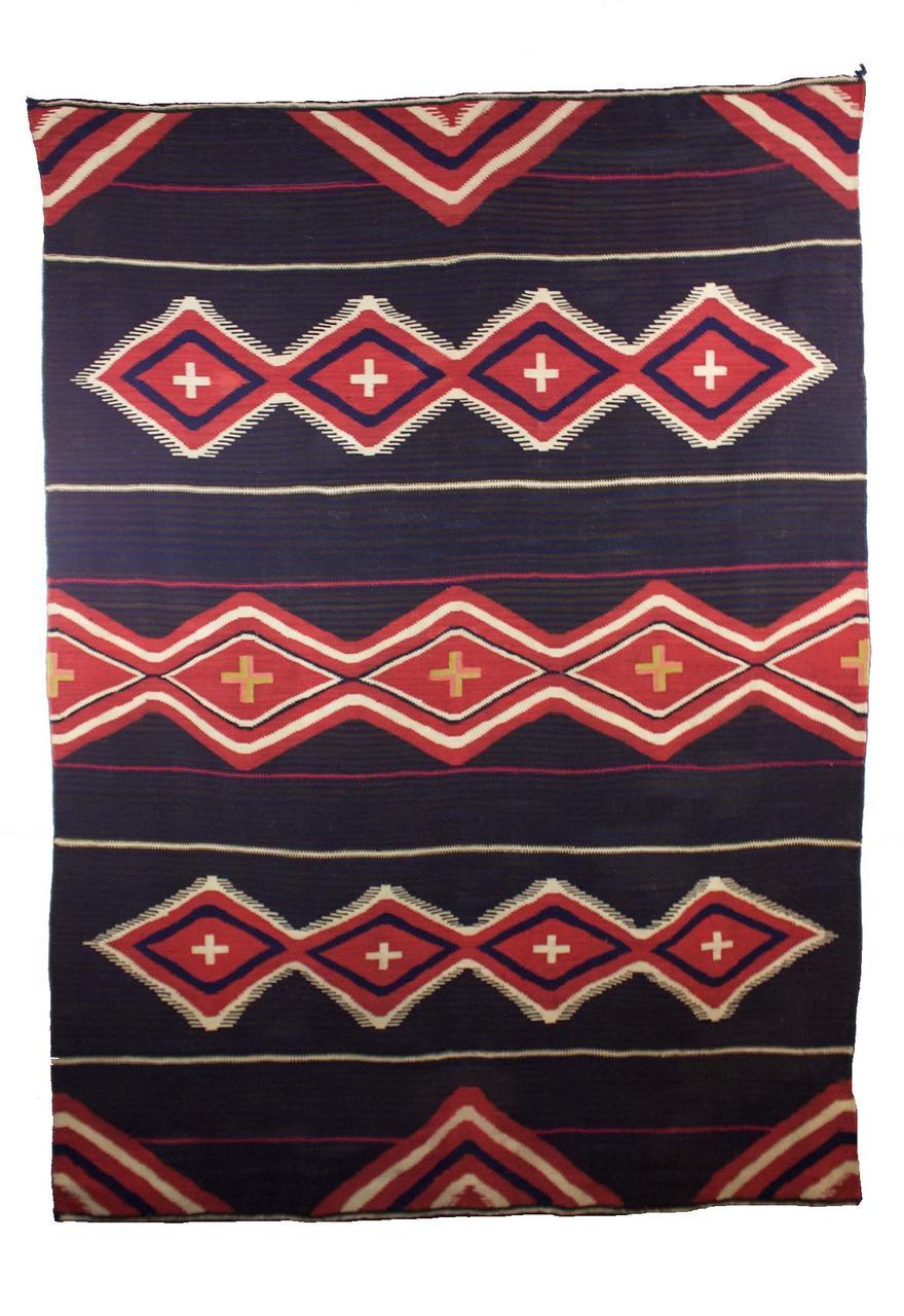 """Classic Navajo Moki   c.1880s  69.5"""" x 51.5"""" // CGL0012"""