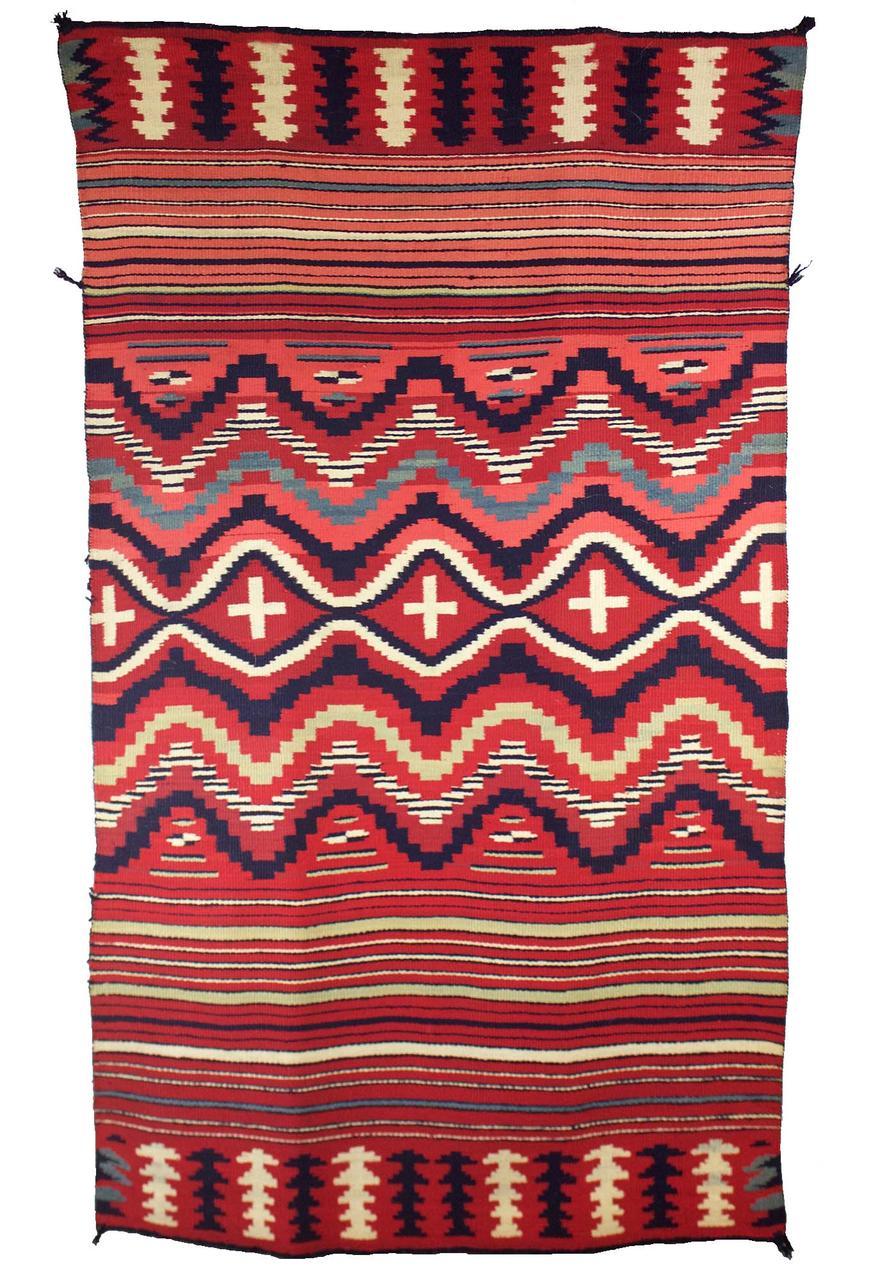 "Navajo Classic Child's Blanket c.1865-1870s 55.5"" x 32"" // CGL0016"