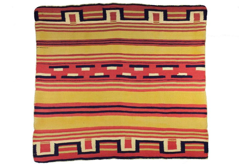 """Navajo Saddle Throw/Sampler c.1870s  29"""" x 26"""" // CGL0011"""