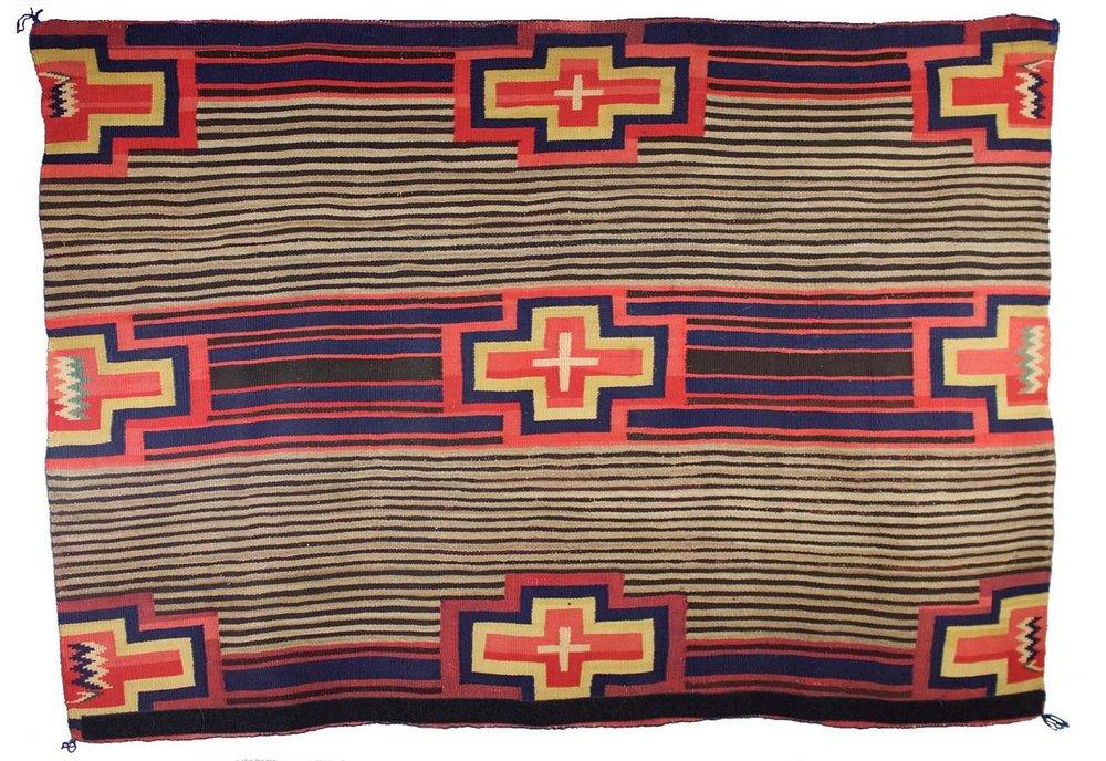 "Navajo Women's Late Classic Blanket c.1870s 54.5"" x 41.5"" // CGL0013"