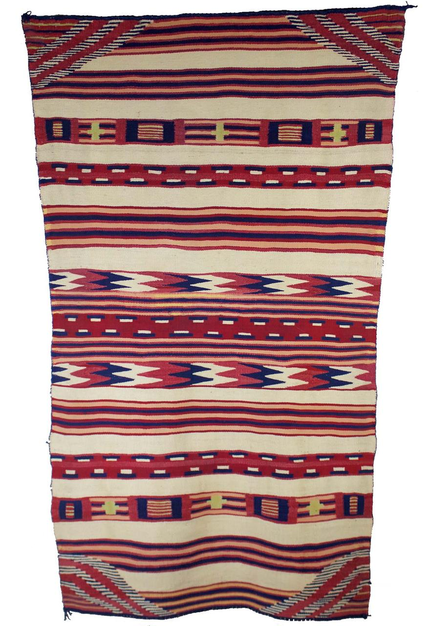 "Navajo Classic Childs Blanket c.1860s 52"" x 30"" // CGL0009"