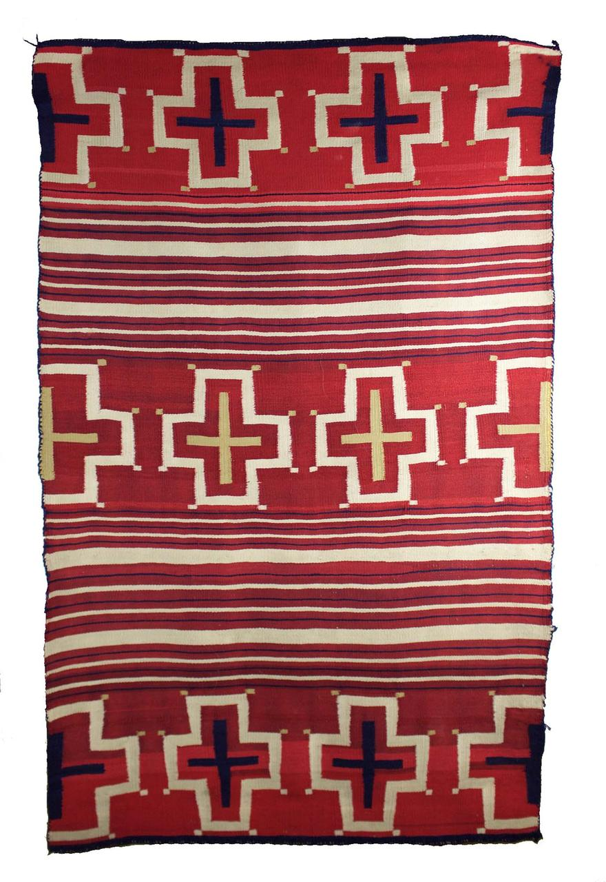 "Navajo Classic Childs Blanket c.1860s 47.5"" x 30"""