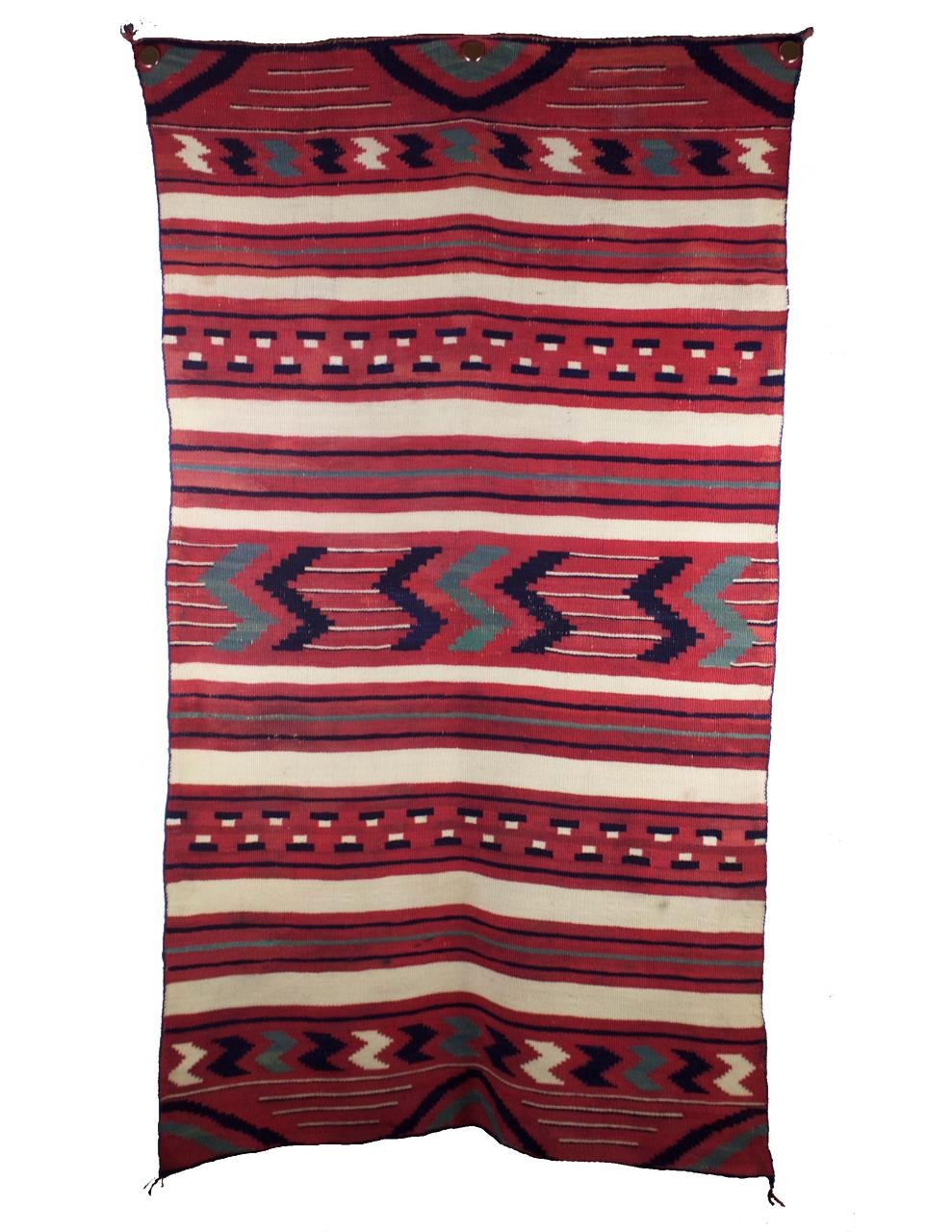 "Navajo Classic Childs Blanket c.1865-1870s 54"" x 29.5"" // CGL0018"