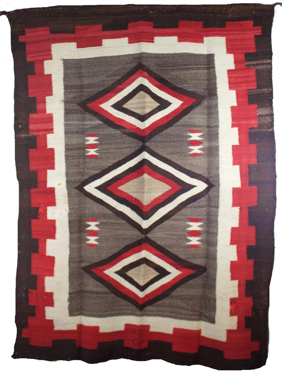 """Navajo Weaving c.1890s 64"""" x 68"""" // BV0443"""