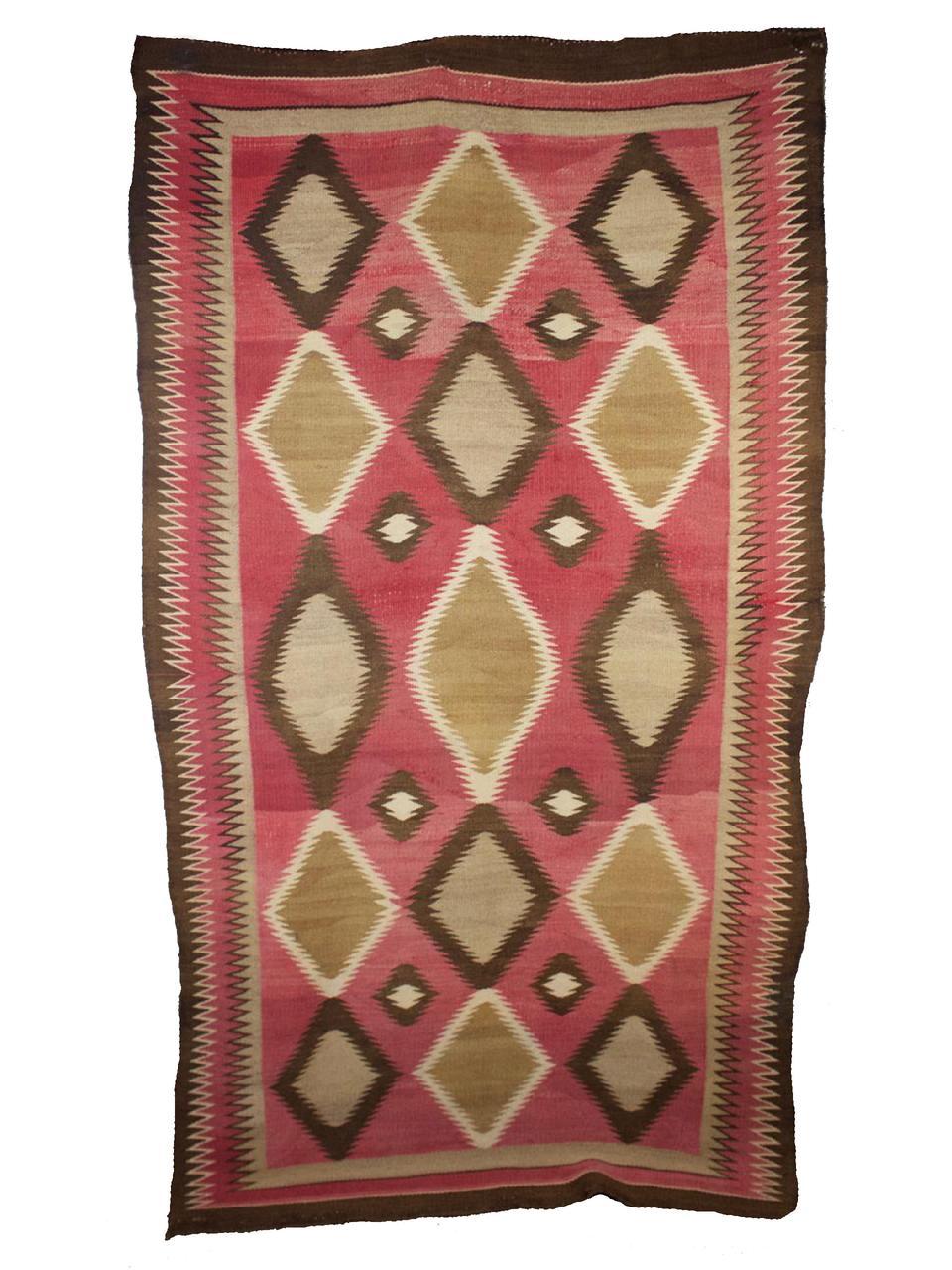 "Red Mesa Navajo Weaving c.1920s - 1930s 86"" x 44"" // CWS0005"