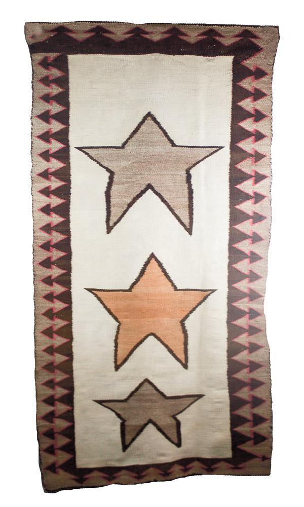 """Navajo Pictorial Weaving c.1900-1910 65"""" x 32"""" // CDG0001"""