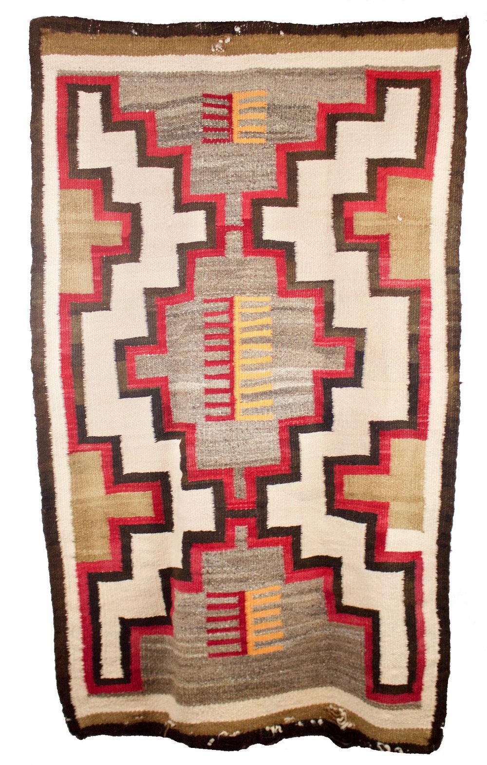 "Navajo Area Rug   c. 1910  53"" x 31"" // CMB0015"