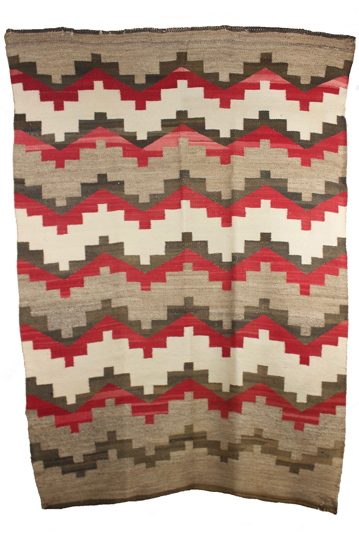 "Navajo Geometric Weaving c.1920s 56"" x 44"" // CMB0012"