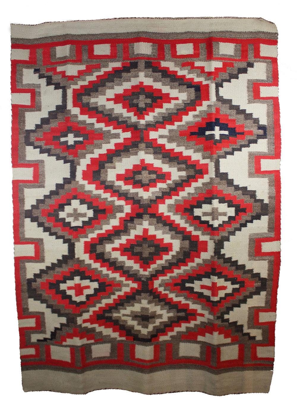 """Navajo JB Moore Cataolg Rug   71"""" x 53"""" // CMB0002"""