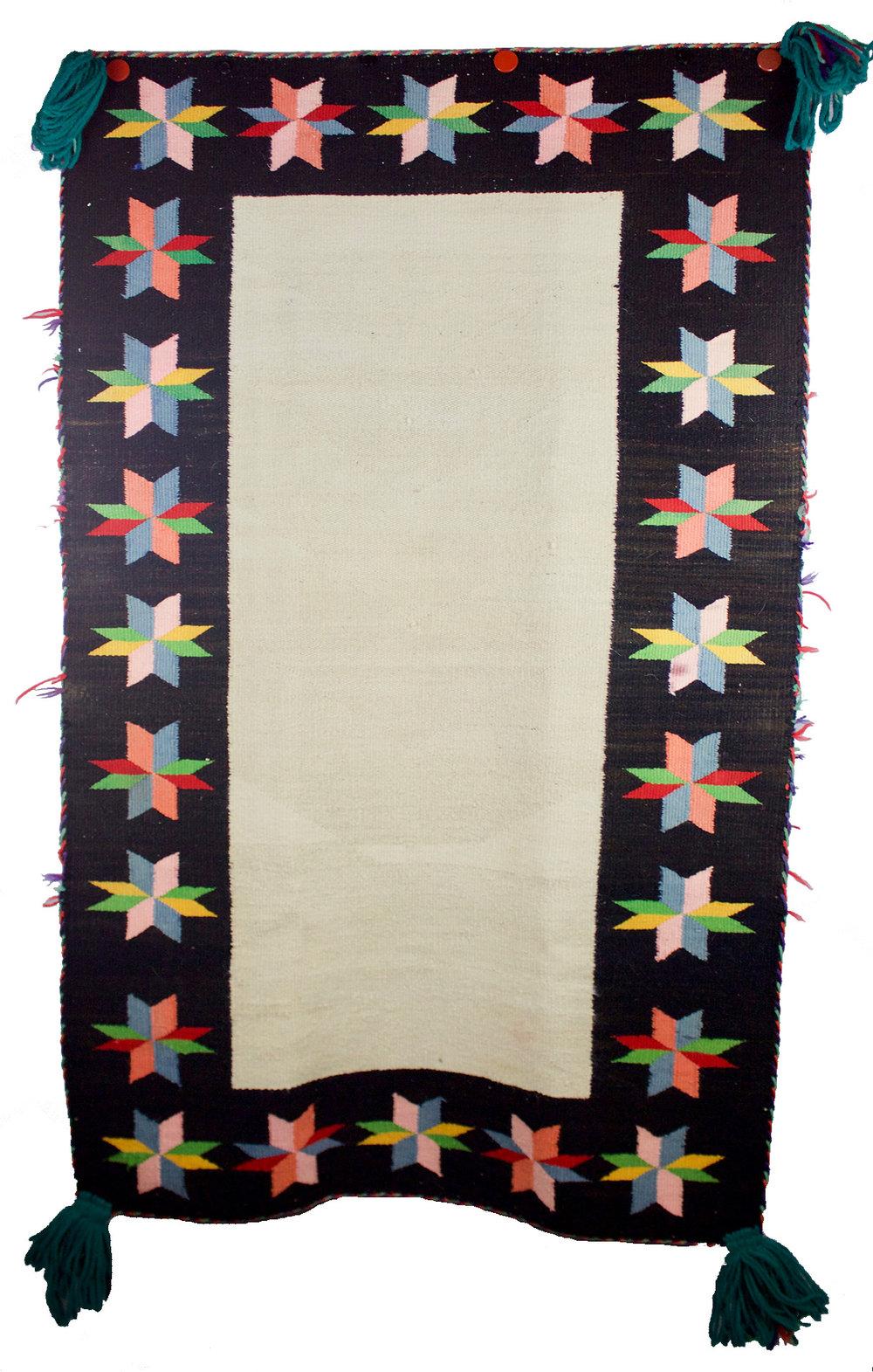 """Navajo Germantown Double Saddle Blanket c.1910 54"""" x 32"""" // BV0517"""