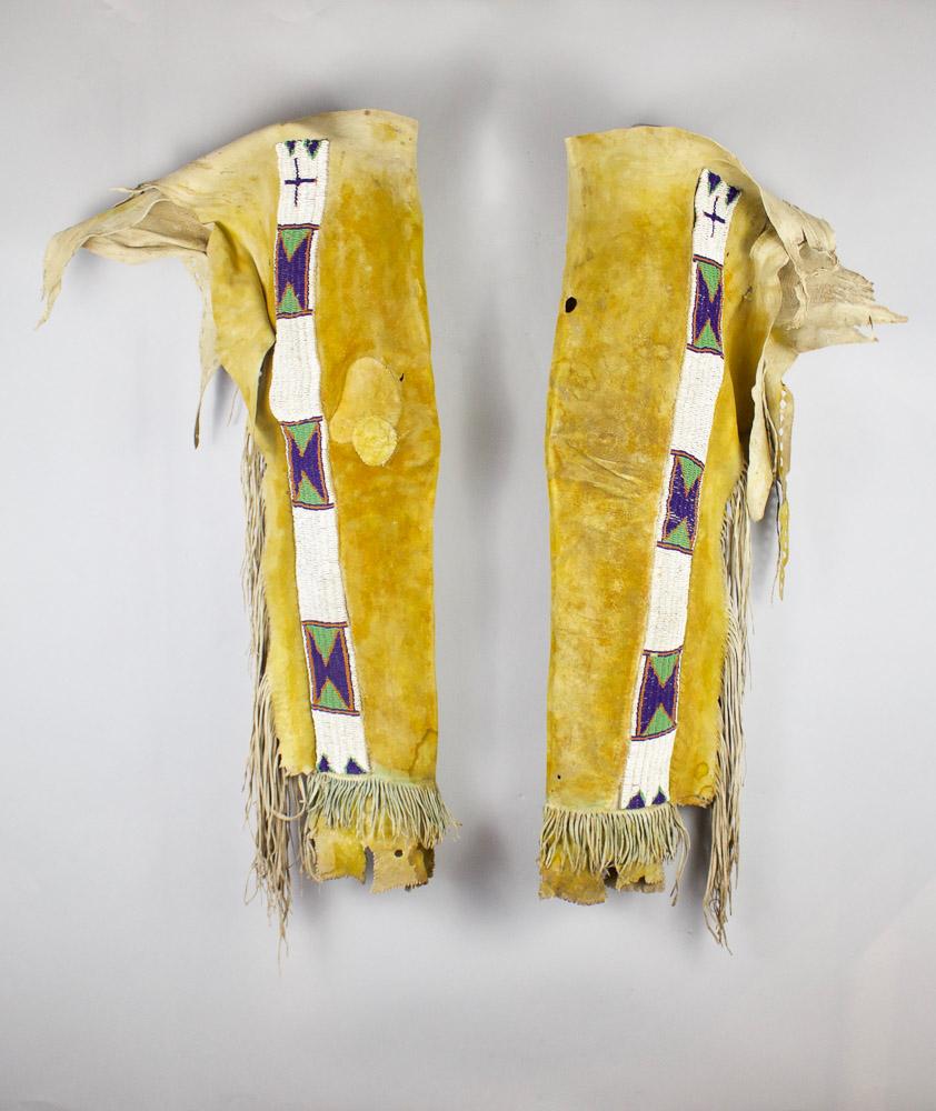 Jicarilla Apache Leggings   c. 1870's  CGL0001
