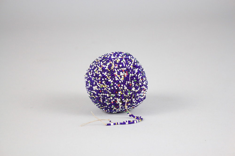 Sioux Puberty Ball    Scatter Bead Decoration, c.  1890's  BV0218