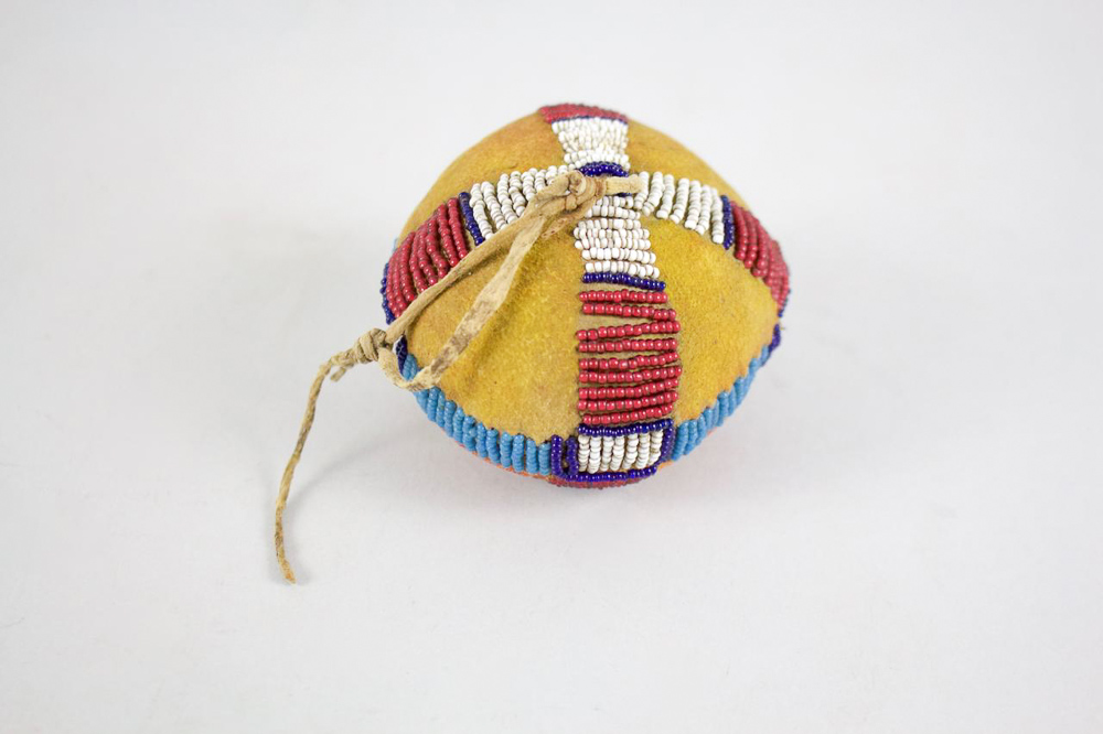Cheyenne Beaded & Painted Puberty Ball   c.1870's  BV0303