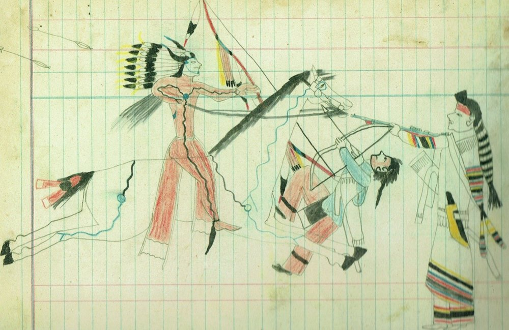 Contrary Warrior Ledger Drawing