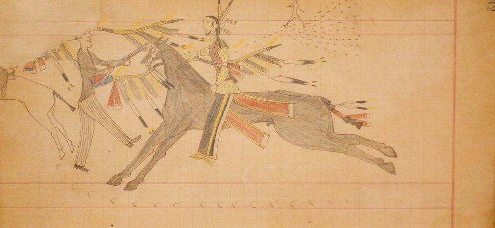 "Vincent Price Ledger   Cheyenne  c.1875-1878   Framed: 13.5"" x 18.5""  CMG0009"