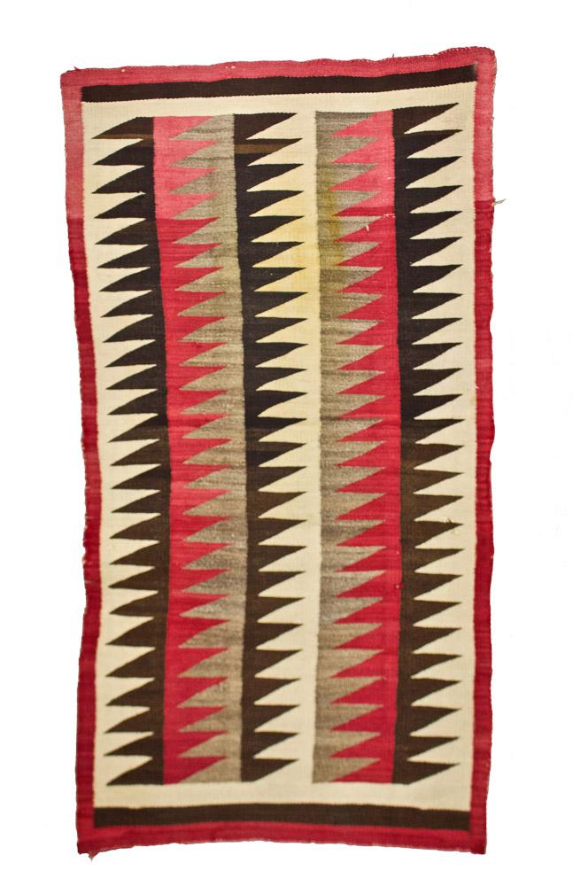 """Navajo Rug   c.1910-1915  68"""" x 37"""" // BV0756"""