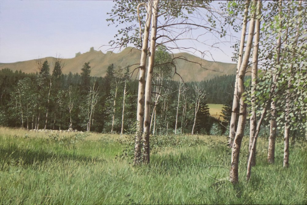 "John Cleaveland    Trail Creek Road, Near Hoffman, MT , 2017  Oil on Panel  16"" x 20""  CJC0002"