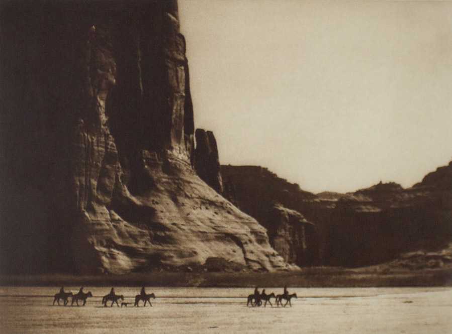 "Edward S. Curtis    Canyon de Chelly , Navajo, 1904  Photogravure  Framed 24.75"" x 28""  BV0256"
