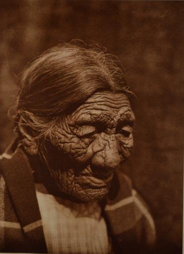 """Edward S. Curtis    Black Belly , Cheyenne, 1927  Photogravure, Van Gelder  Framed 16"""" x 21.5""""  BV0154"""