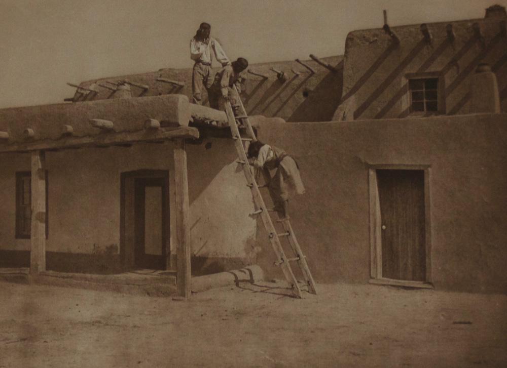 """Edward S. Curtis    In San Ildefanso , 1925  Phoogravure, Van Gelder  Framed 23"""" x 26""""  BV0524"""