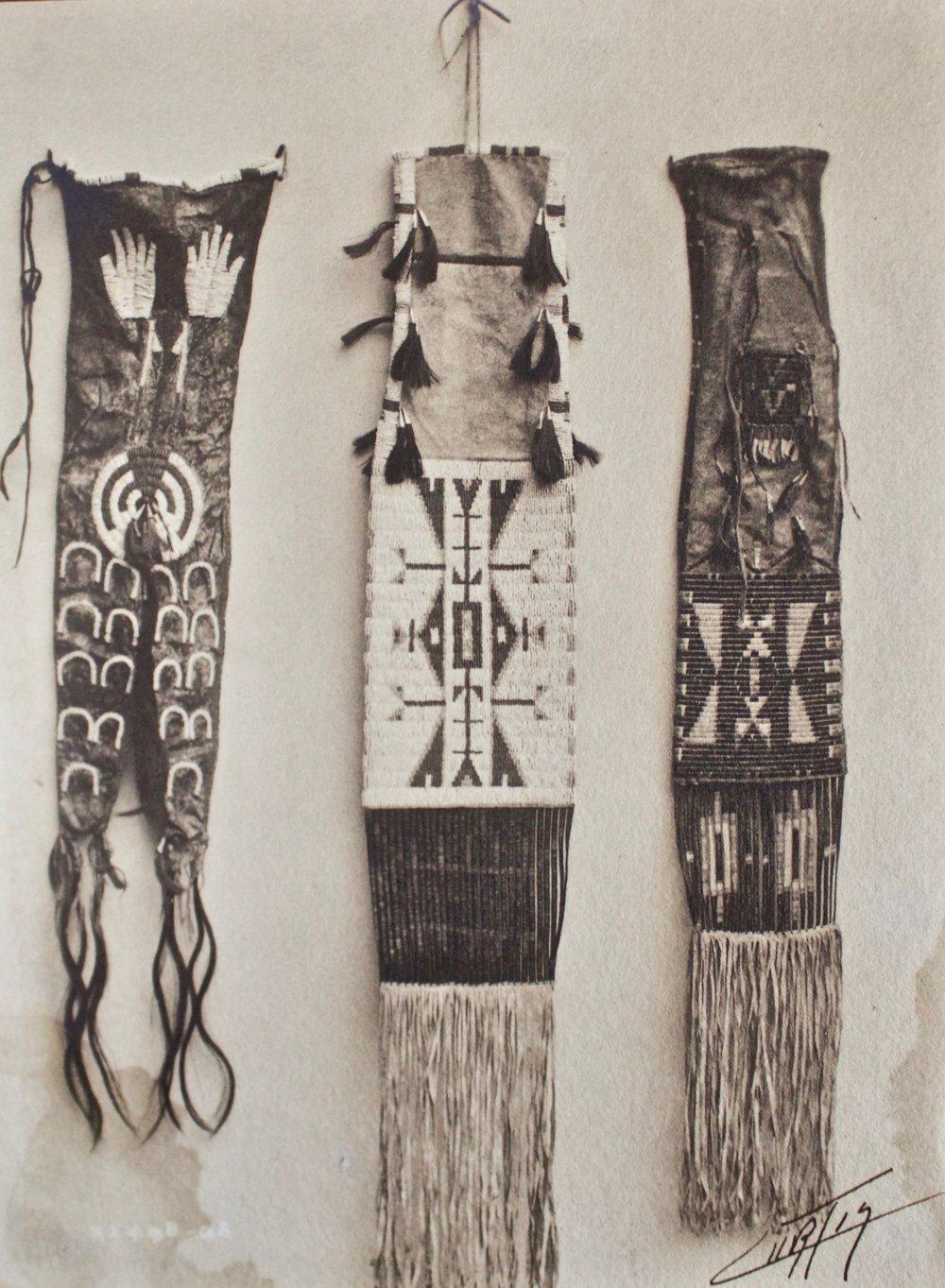 Edward S. Curtis    Pipe Bags , Sioux 1908  Silver Gelatin  Unframed  BV0153