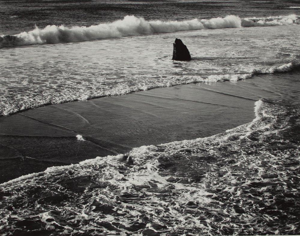 Morley Baer  (1916-1995)   Double Surf Garrapata   1966 Gelatin silver  BV0690