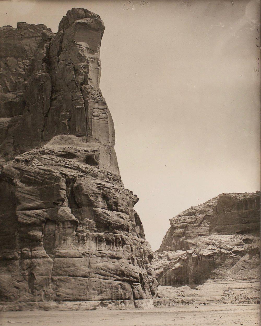 "Adam Clark Vroman  (1856-1916)   Canyon de Chelly , 1904  Silver Gelatin  Framed 18.25"" x 16""  BV0157"