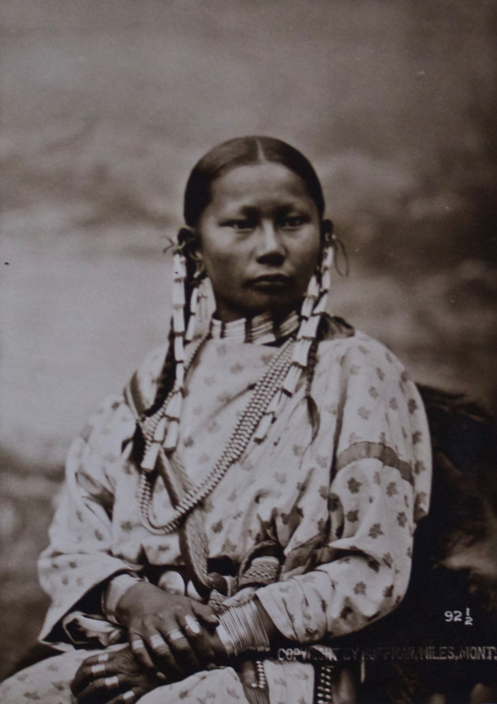 "Laton Alton  Huffman  (1854-1931)   Spotted Fawn , Cheyenne Girl of 13, 1878  Framed 22.5"" x 19.75""  BV0529"
